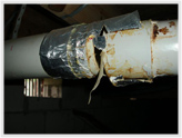 Photo of Furnace exhaust pipe is leaking carbon monoxide.
